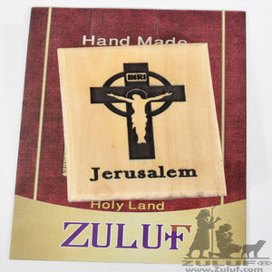 Celtic Cross Jerusalem Olive Wood Magnet - Zuluf Olive Wood Factory - MAG037 - Zuluf