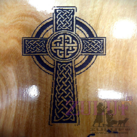 Celtic Cross Magnet Olive Wood Home Kitchen Christian Cross Irish Laser Gift - MAG004 - Zuluf