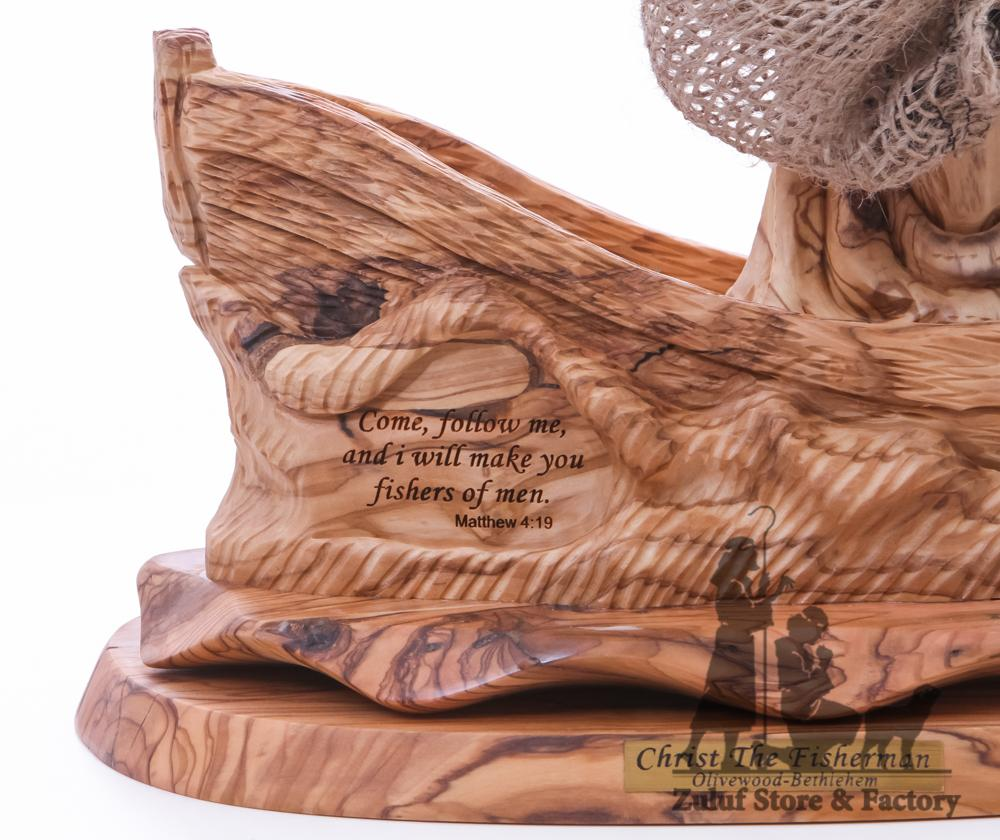 Christ The Fisherman Statue Olive Wood Zuluf ® - ART012 - Zuluf