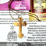 Christian Gift Olive Wood Orthodox Cross Crucifix Pendant Necklace - PEN145 - Zuluf