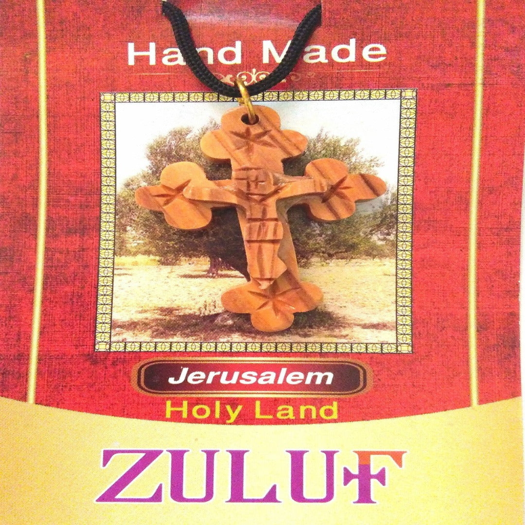 Christian Jesus Pendant Crucifix Carved Handicraft - PEN155 - Zuluf