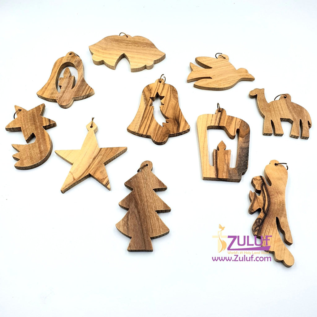 Christmas souvenir olive wood hand made ORN200 - Zuluf