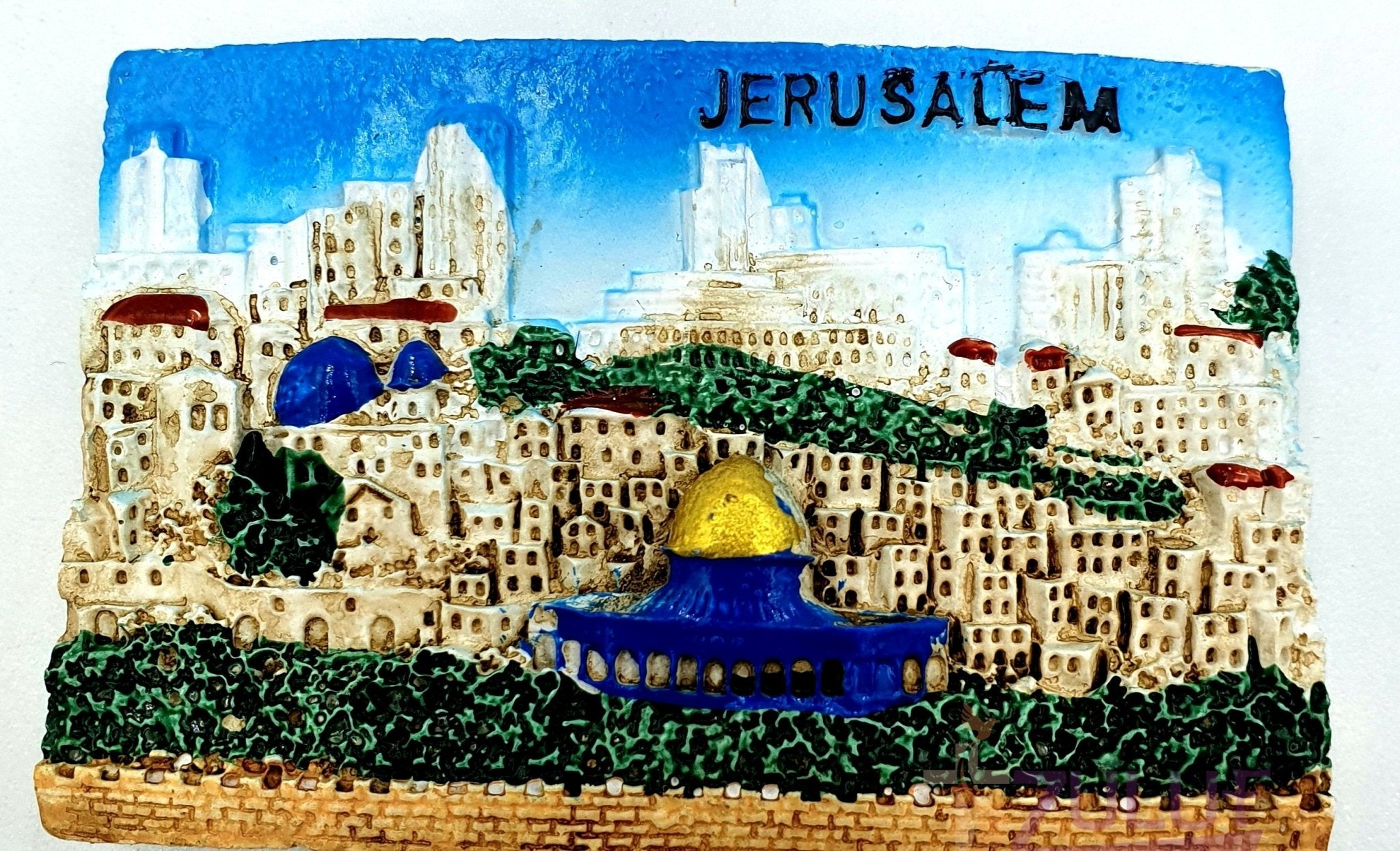 City Of Jerusalem Ceramic Hand Made Magnet MAG096 - Zuluf