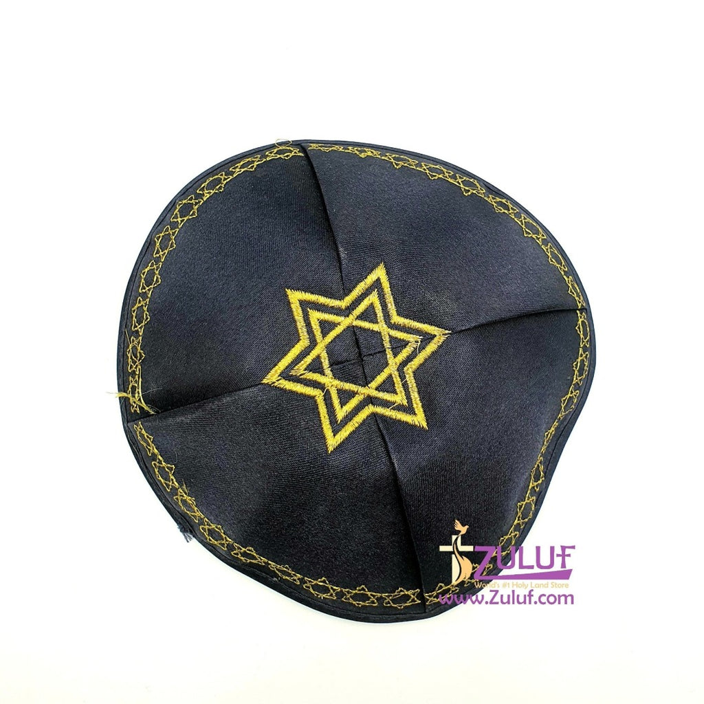 Dark blue Cap Yehuda Jewish hand made holy land JUD009 - Zuluf
