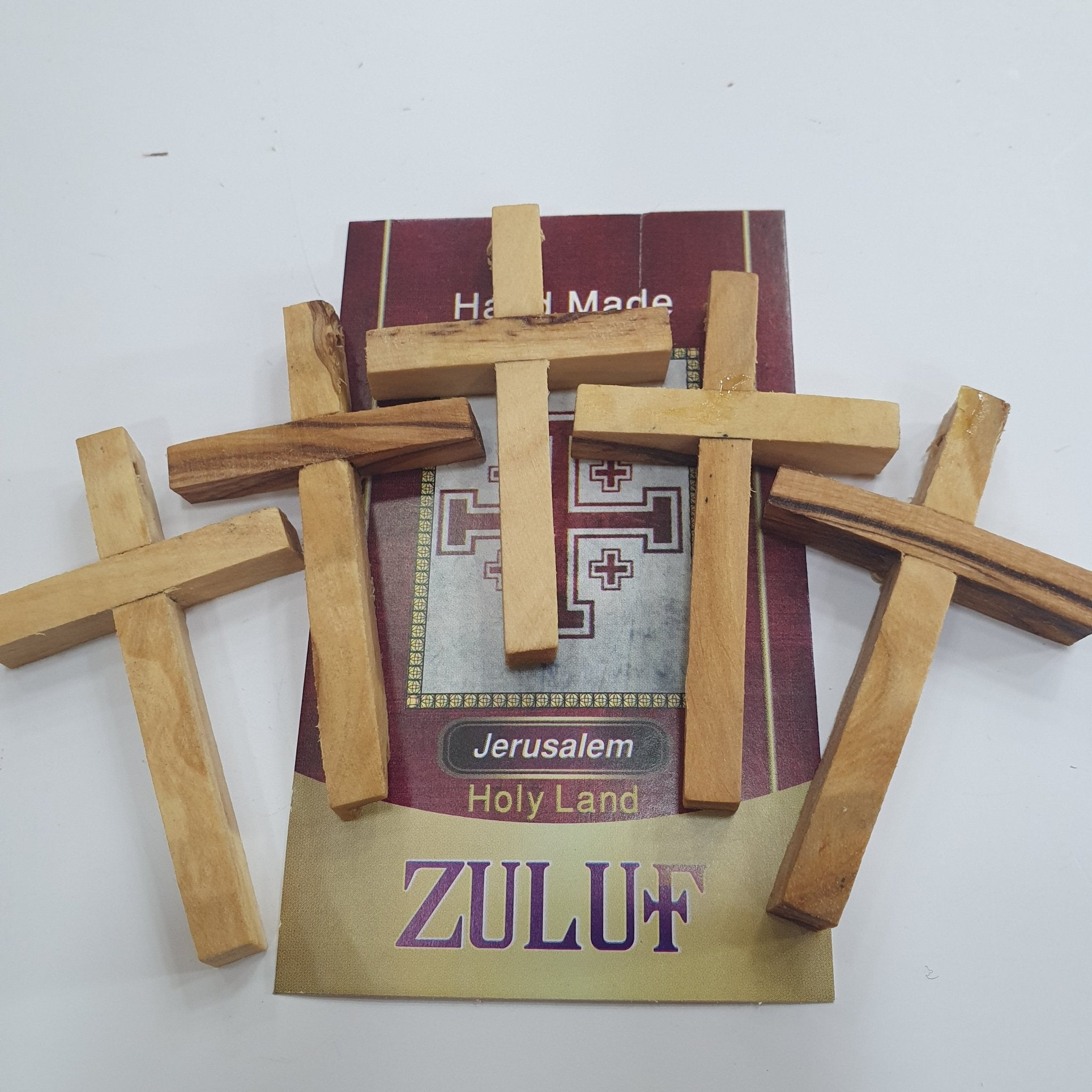Five Olive Wood Crosses PEN211 Bulk Price - Zuluf