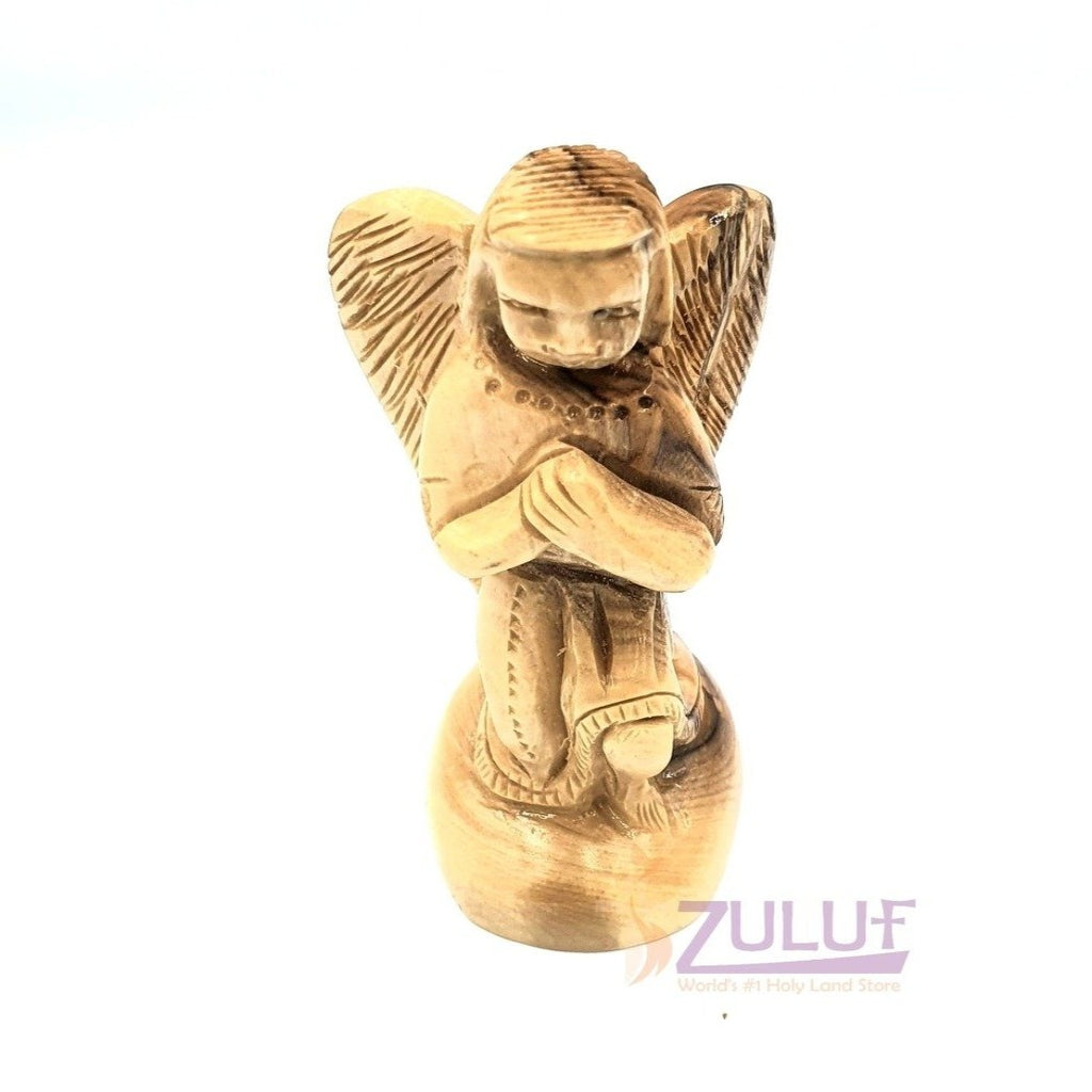 Gabriel Archangel Olive Wood Statue Hand Made ANG038 - Zuluf