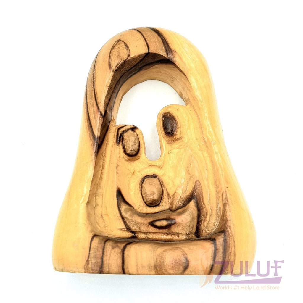 Hand Carved Nativity Holy Family Figure Zuluf - 11X7.5X2.5CM/4.3X2.9X1in (HOF031) - Zuluf