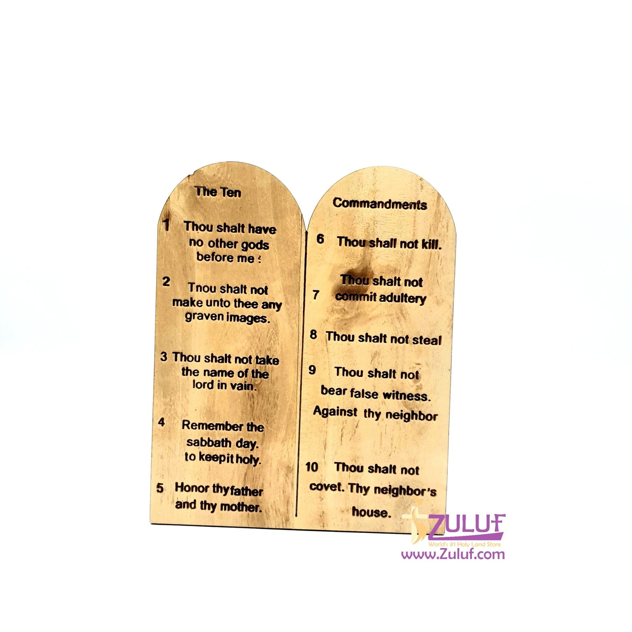 Hand made from wood the ten commandments JUD010 - Zuluf