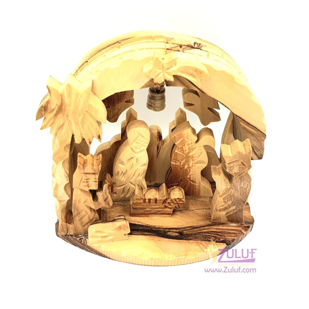 handmade nativity scene Authentic bethlehem Handcarved Arts olive wood nativity NAT050 - Zuluf