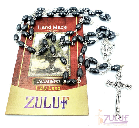 Image of Hematite Rosary Best Rosary to buy Online - ROS028 - Zuluf