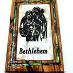 Holy Family Magnet Religious Art Olive Wood and mather of pearl Holy Land - MAG064 - Zuluf