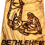 Holy family Magnet Religious Art Olive Wood Holy Land - MAG069 - Zuluf