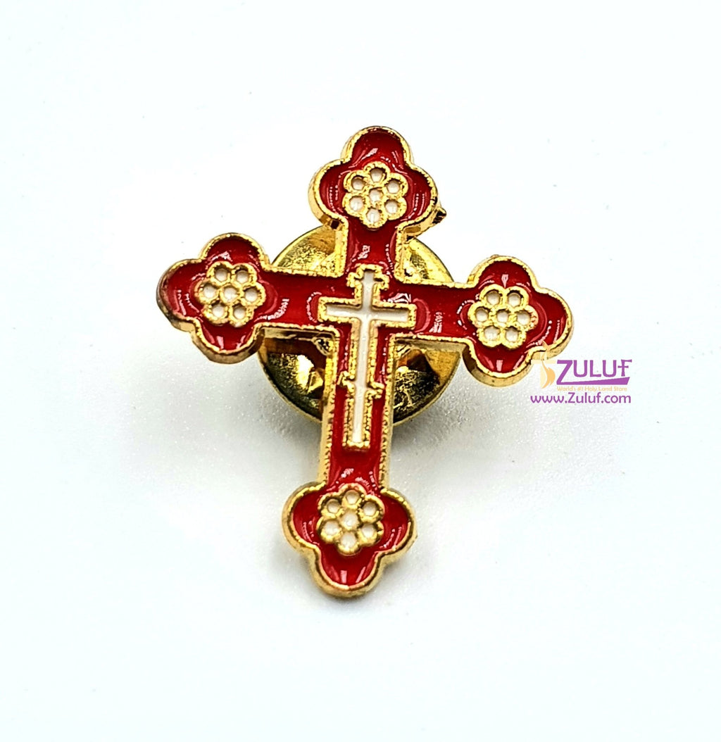 Holy Land Cross Pin by Zuluf PEN201 - Zuluf