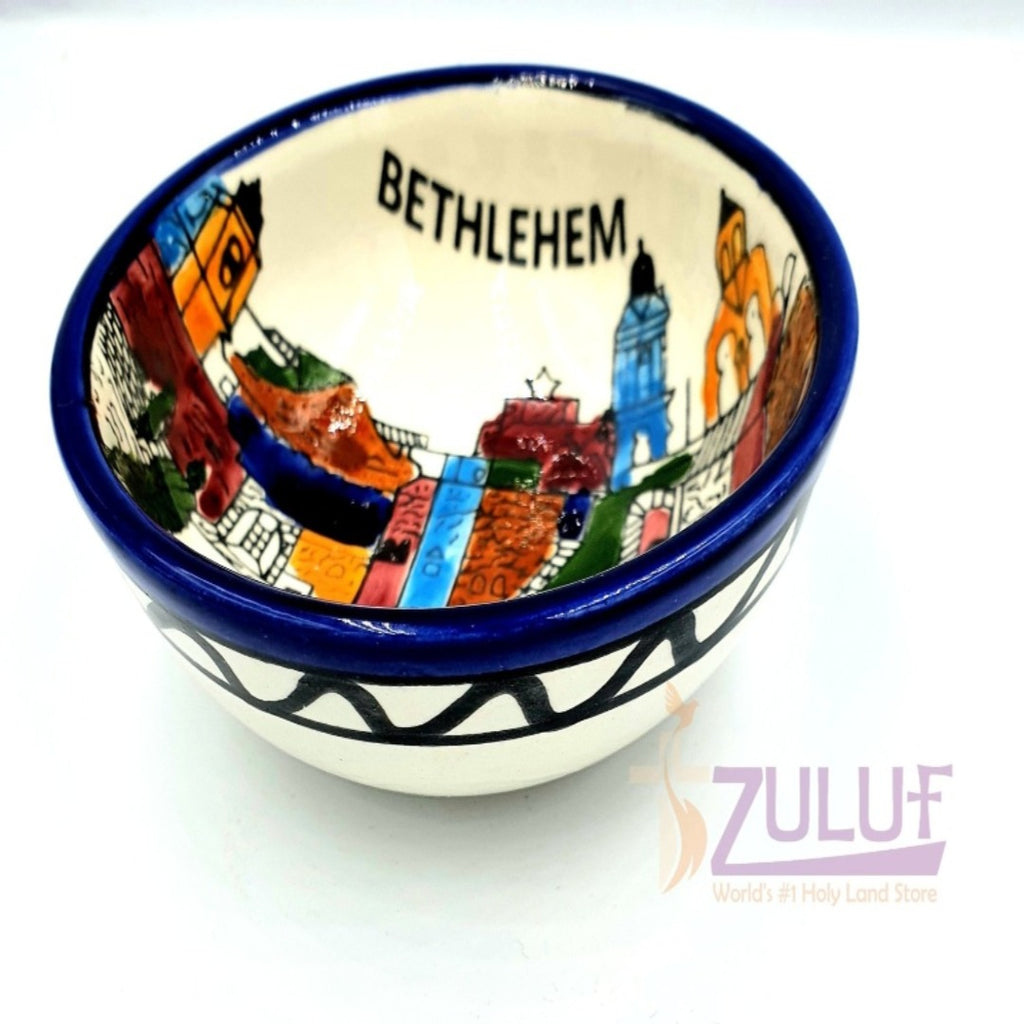 Holy Land Gift Ceramic Bowl Holy Land Souvenir Gift by Zuluf - CER033 - Zuluf