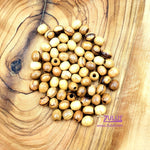 Holy land Natural Olive wood round beads 7mm ROSARY beads NAZARETH ( 60 Beads ) - BEAD004 - Zuluf