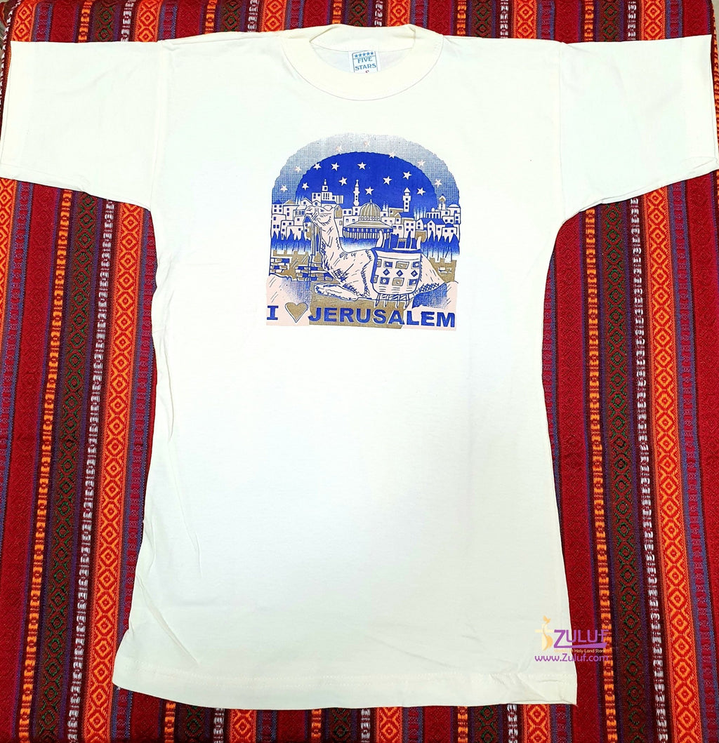 I love Jerusalem Men T.shirt TSH014 - Zuluf