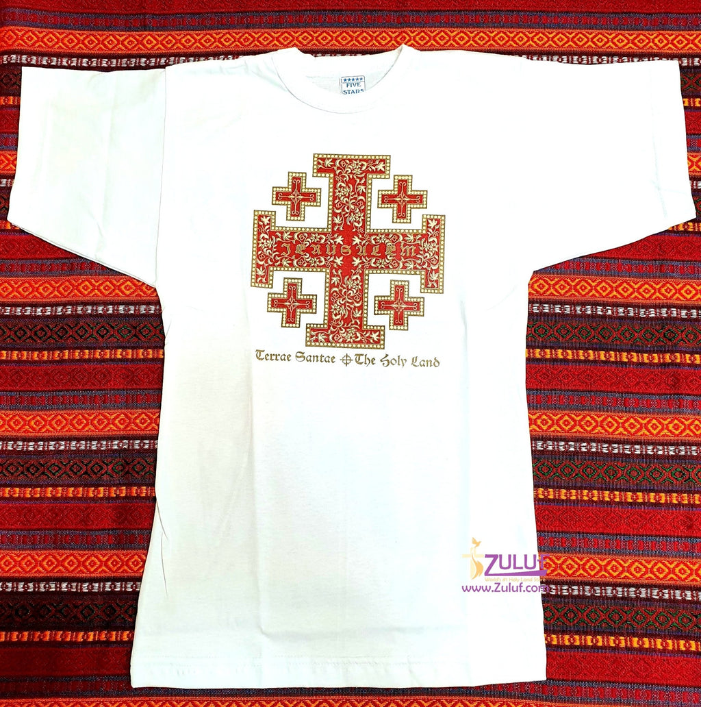 Jerusalem Cross Men T.shirt TSH010 - Zuluf