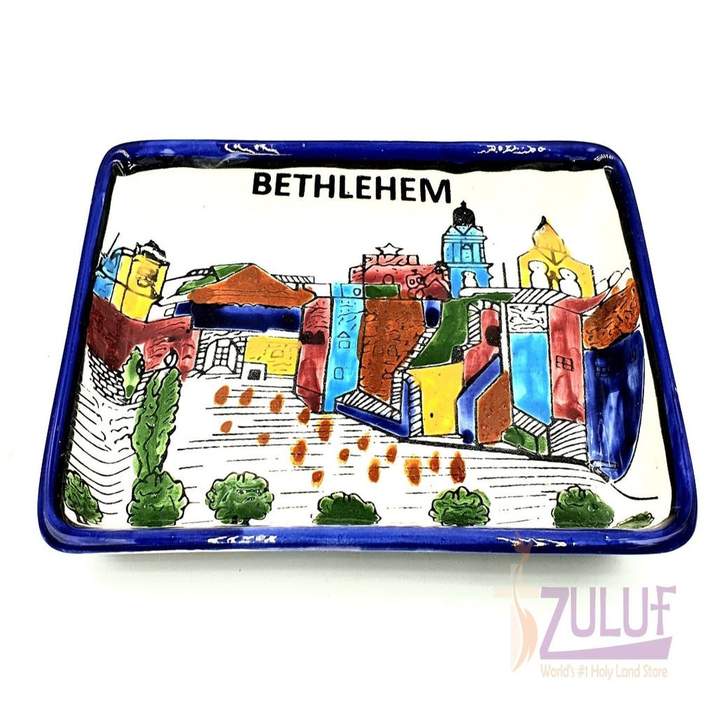 jerusalem décor bowl - Ceramic Holy Land Souvenir Israel Judaica Bowl Jerusalem by Zuluf - CER029 - Zuluf