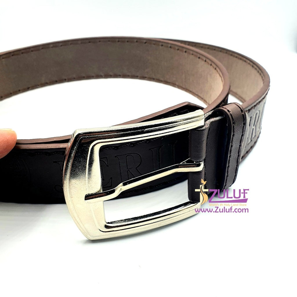 Jerusalem Industrial leather belt hand made HLG011 - Zuluf