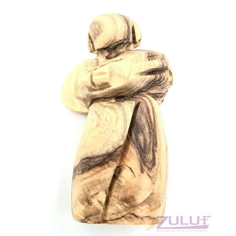 Image of Jerusalem Israel Olive Wood Angel ANG043 - Zuluf