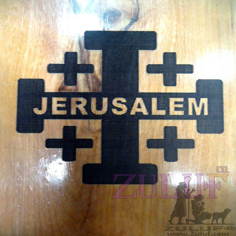 Jerusalem Knights Templar Cross Holy land Crusader Olive Wood Templar Knight - MAG010 - Zuluf