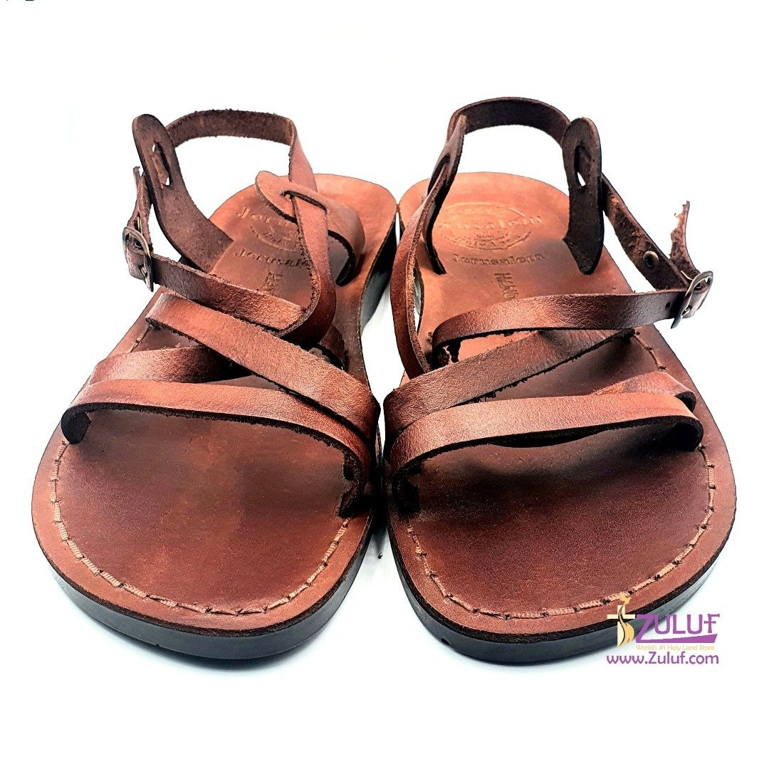 Jerusalem leather hand made sandal SAN008 - Zuluf