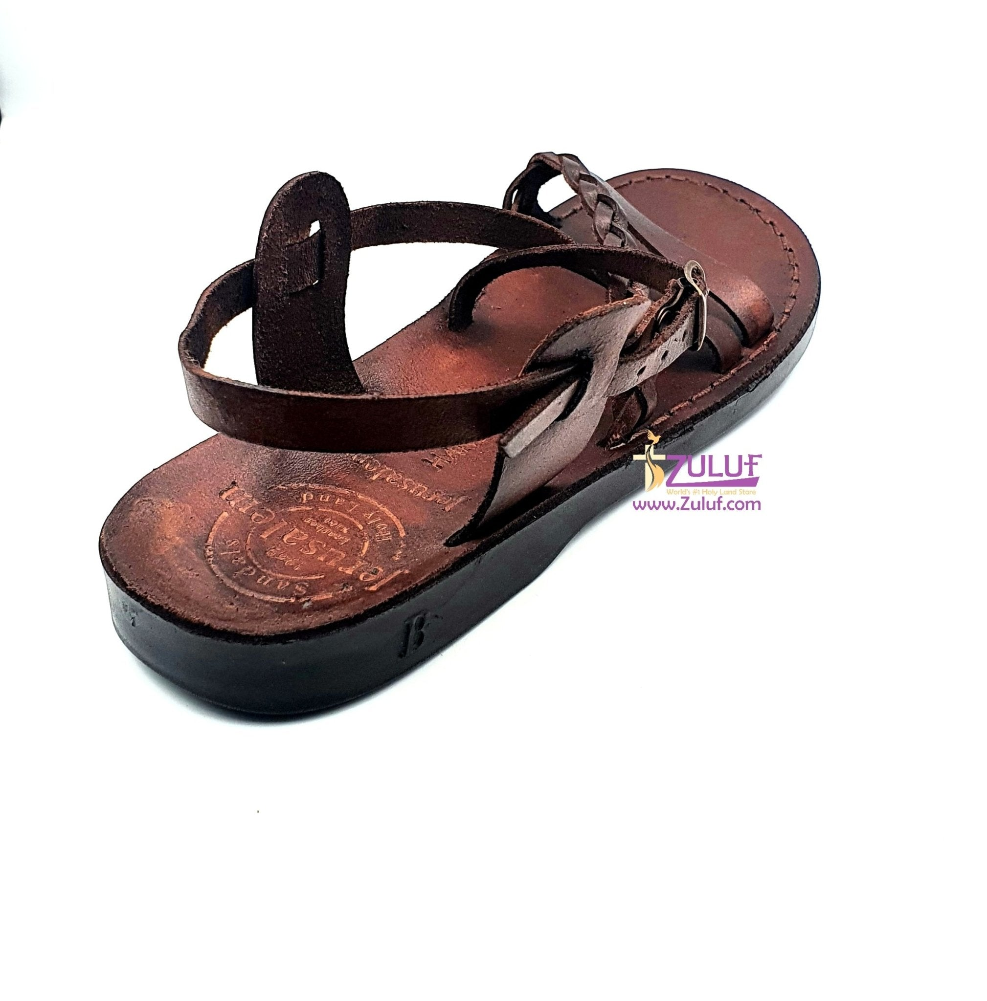 Jerusalem leather hand made sandal SAN011 - Zuluf