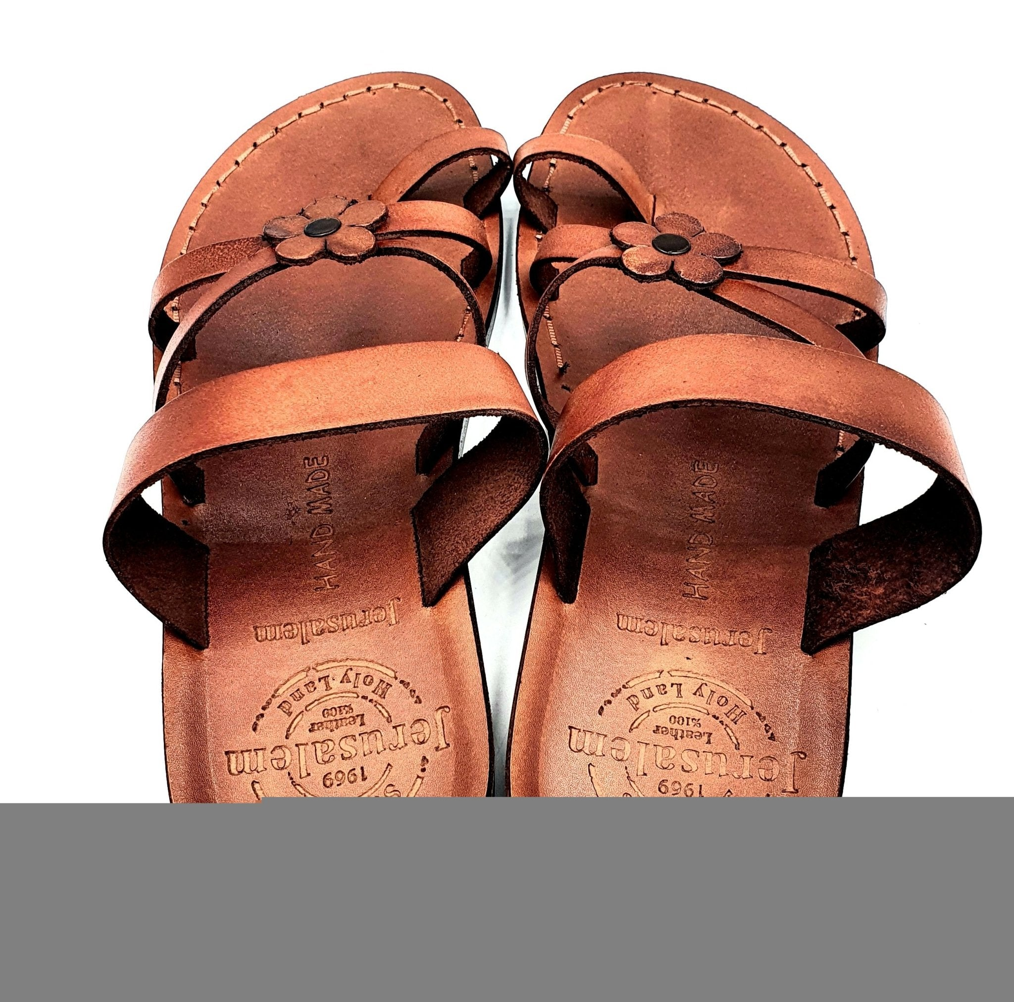 Jerusalem leather hand made soft woman unlocked sandal San016 - Zuluf