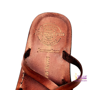 Jerusalem leather hand made unlocked sandal SAN017 - Zuluf