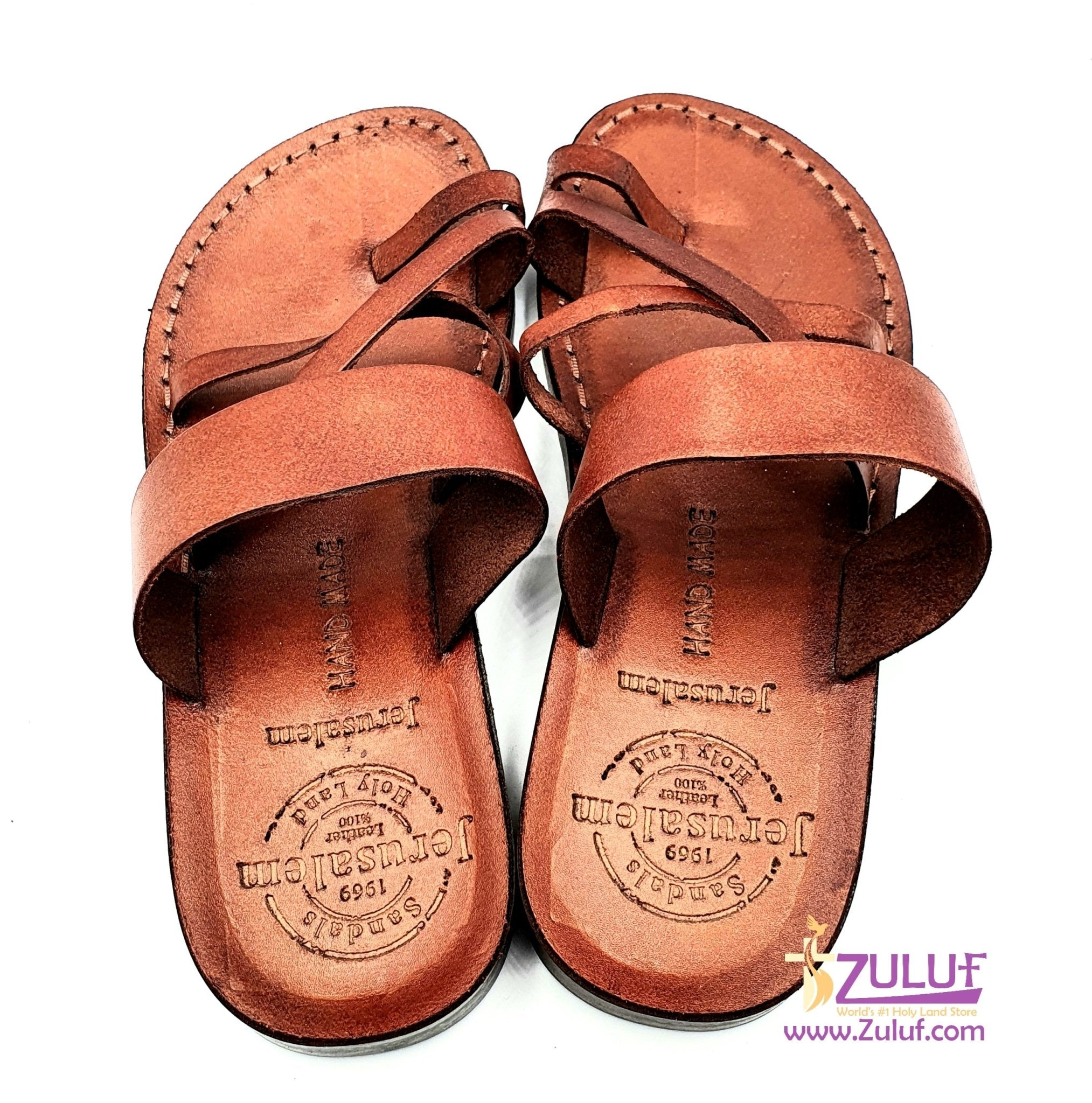 Jerusalem leather hand made unlocked sandal SAN023 - Zuluf