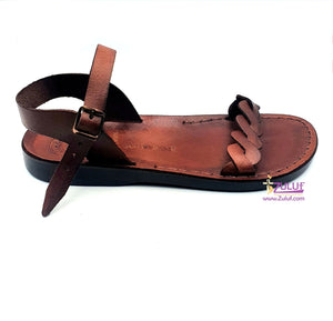 Jerusalem leather hand made woman sandal SAN004 - Zuluf