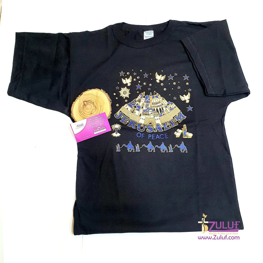 Jerusalem of Peace Men size T.Shirt TSH009 - Zuluf