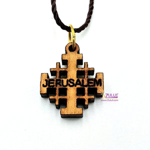 Jerusalem Templar's Cross Small Pendant Zuluf Gifts - PEN072 - Zuluf