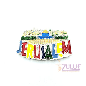 Jerusalem Wall City Magnets Holy Land Products Mag092 - Zuluf