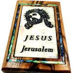 Jesus crown of thorns Magnet Religious Art Olive Wood mather of pearl Holy Land - MAG071 - Zuluf
