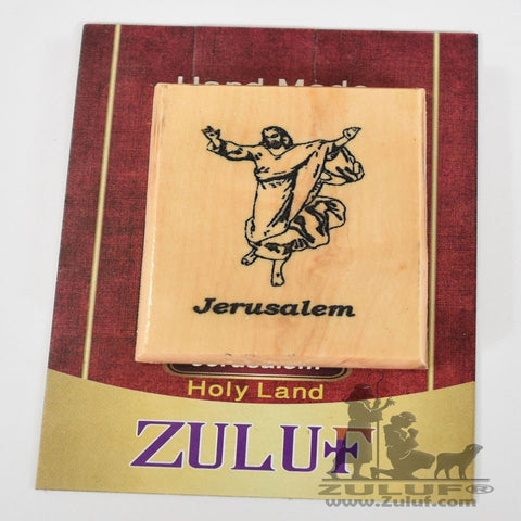 Jesus Olive wood Hand Made Magnet - MAG001 - Zuluf