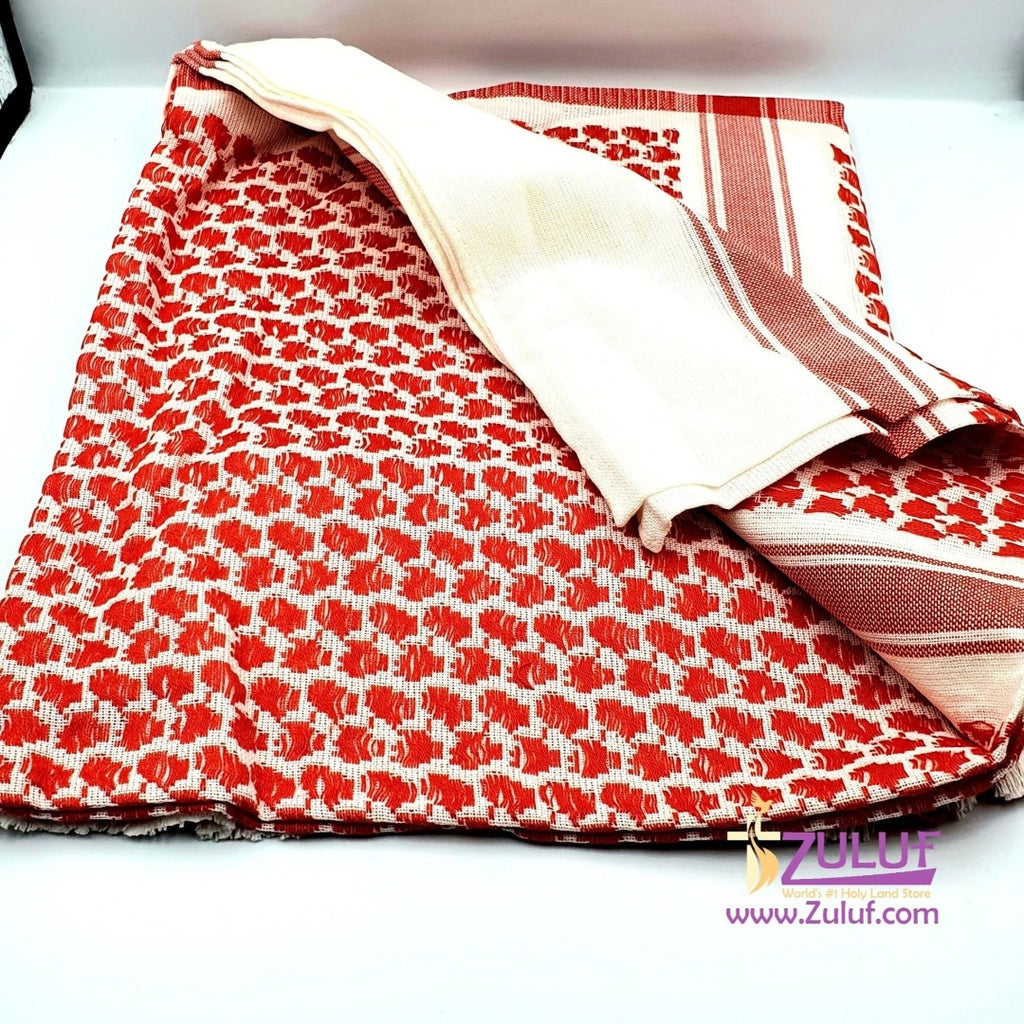 Keffiyeh or Hattah hand made traditiontal wear on head GIFT HLG009 - Zuluf