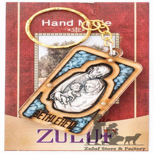 "Key Chain Holy Land Gift Holy Family Craft 5.5*3 2.1*1.1"" Zuluf® - KC036 - Zuluf"