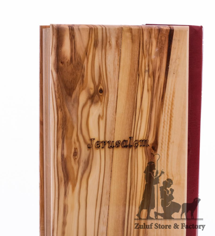 King James Olive Wood Decorated Holy Bible From Bethlehem - By Zuluf 15X10CM/5.9X3.9in (HOB001) - Zuluf