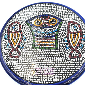 Medium Armenian Round Hand Painted Jerusalem Ceramic Plate 16cm / 6.2 Inches - CER002 - Zuluf
