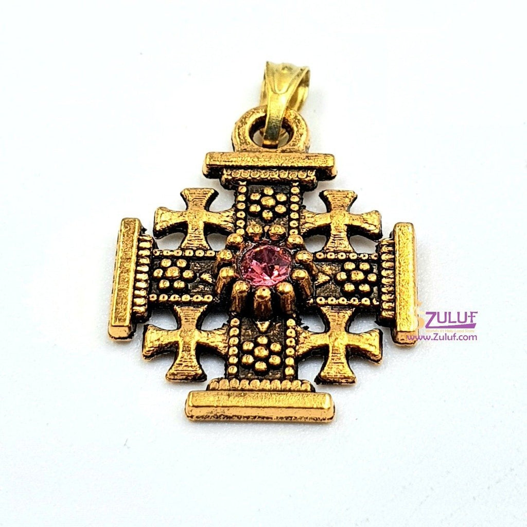 Metal Jerusalem Cross Pendant by Zuluf PEN196 - Zuluf