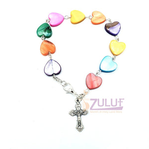 mix Mather of pearl and matelic hand made bracelet BRA045 - Zuluf