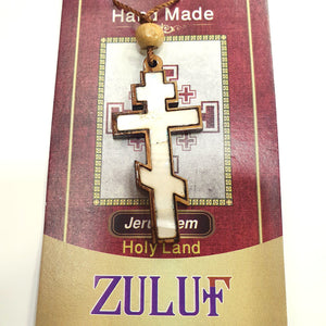 Mother of Pearl Russian Cross Pendant PEN182 by Zuluf - Zuluf