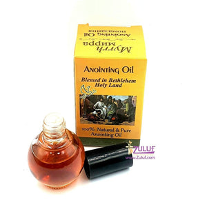 Myrrh Mirra Anointing Oil Jerusalem Glass Bottle anointing oil from jerusalem - NPER020 - Zuluf