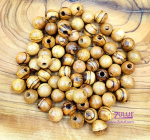 Nazareth Natural Olive Wood Beads 8mm ROSARY beads NAZARETH ( 60 Beads ) - BEAD005 - Zuluf