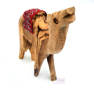 Olive Wood Camel Craft Christian Gift From Bethlehem By ZULUF Factory, 9.5X6CM - 3.7X2.3in ANI003 - Zuluf