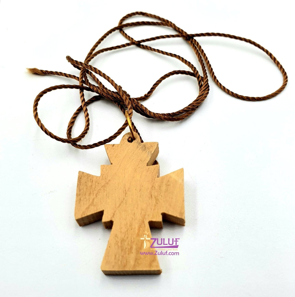 Olive Wood Cross Jerusalem by Zuluf - PEN079 - Zuluf
