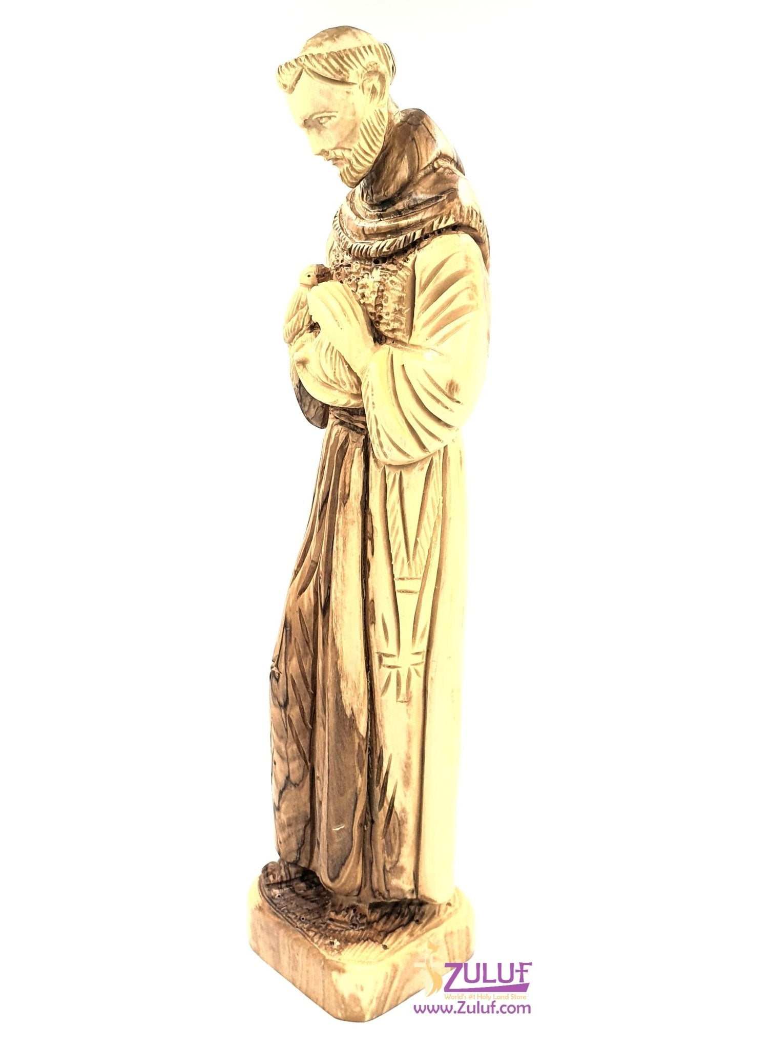 Olive wood hand francis of assisi FLG48 - Zuluf
