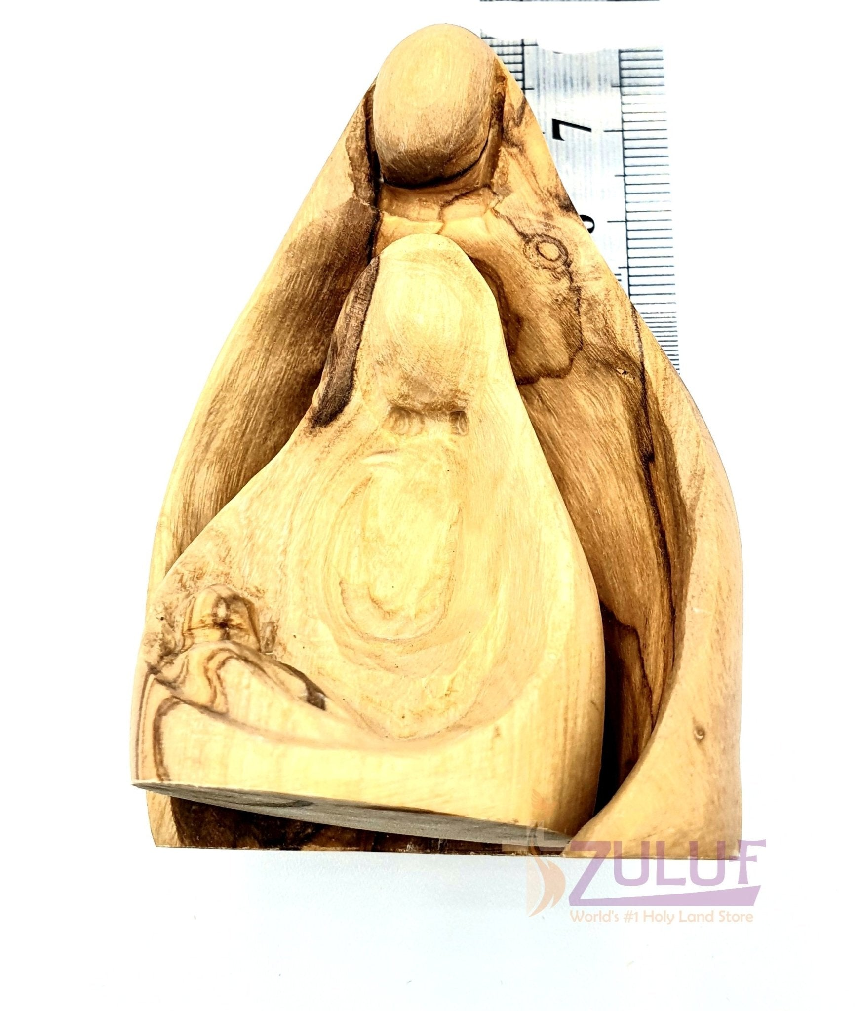 Olive wood hand made 2pieces holy family HOF042 - Zuluf