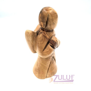 "Olive Wood Hand Made Angel Angels Baby 4.3"" By Zuluf ANG004 - Zuluf"